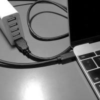 MacBookをどこでも充電出来るようCheeroのUSB TypeCとAになってるケーブルを購入。
