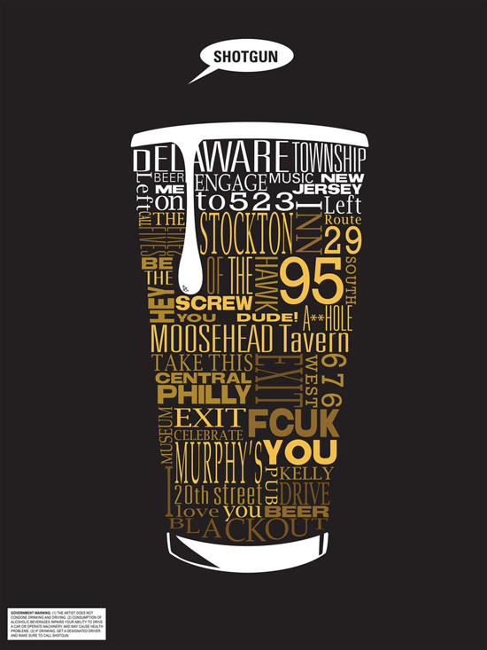 2 Typographic Beer Directions by Smooth as Sandpaper