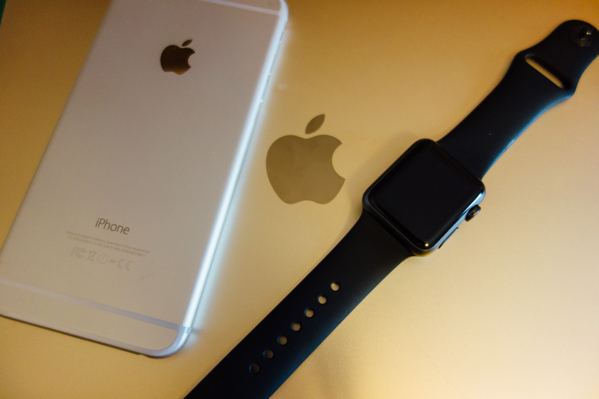 Macbook iphone6plus applewatch