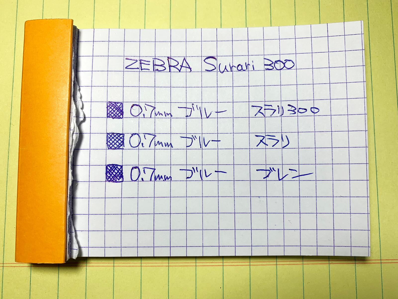 ブレン・スラリ・スラリ300で書いてみた