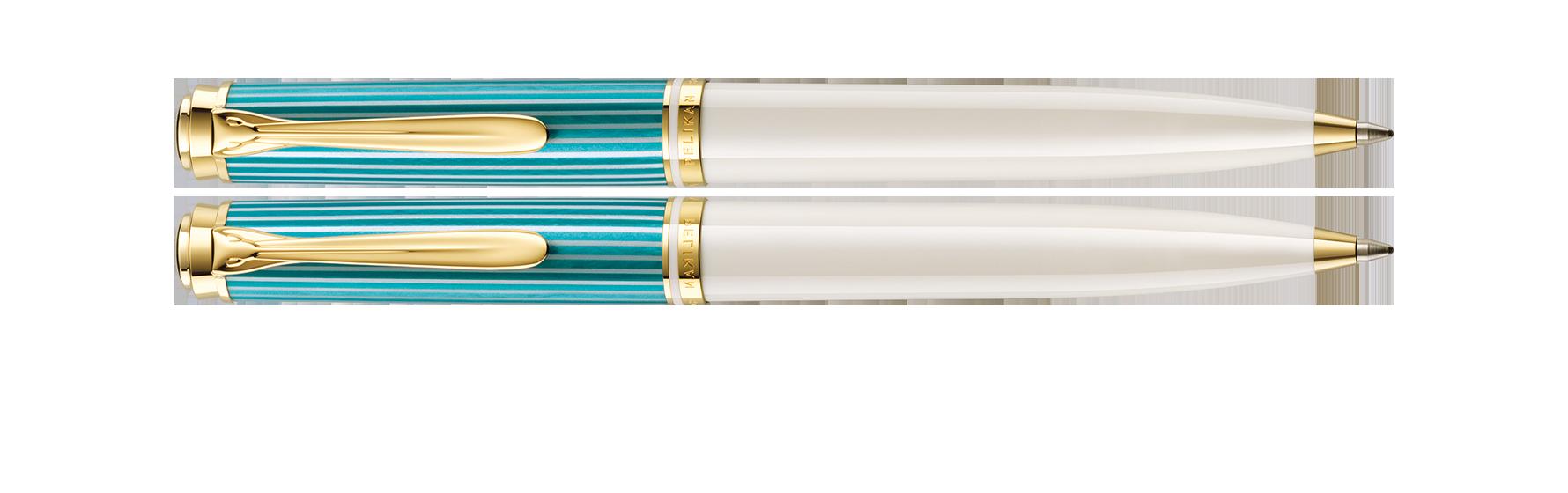 ペリカン スーベレーン 600 ターコイズホワイト ボールペン