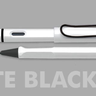LAMY safari white black clip