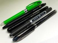 黒いインクのボールペン