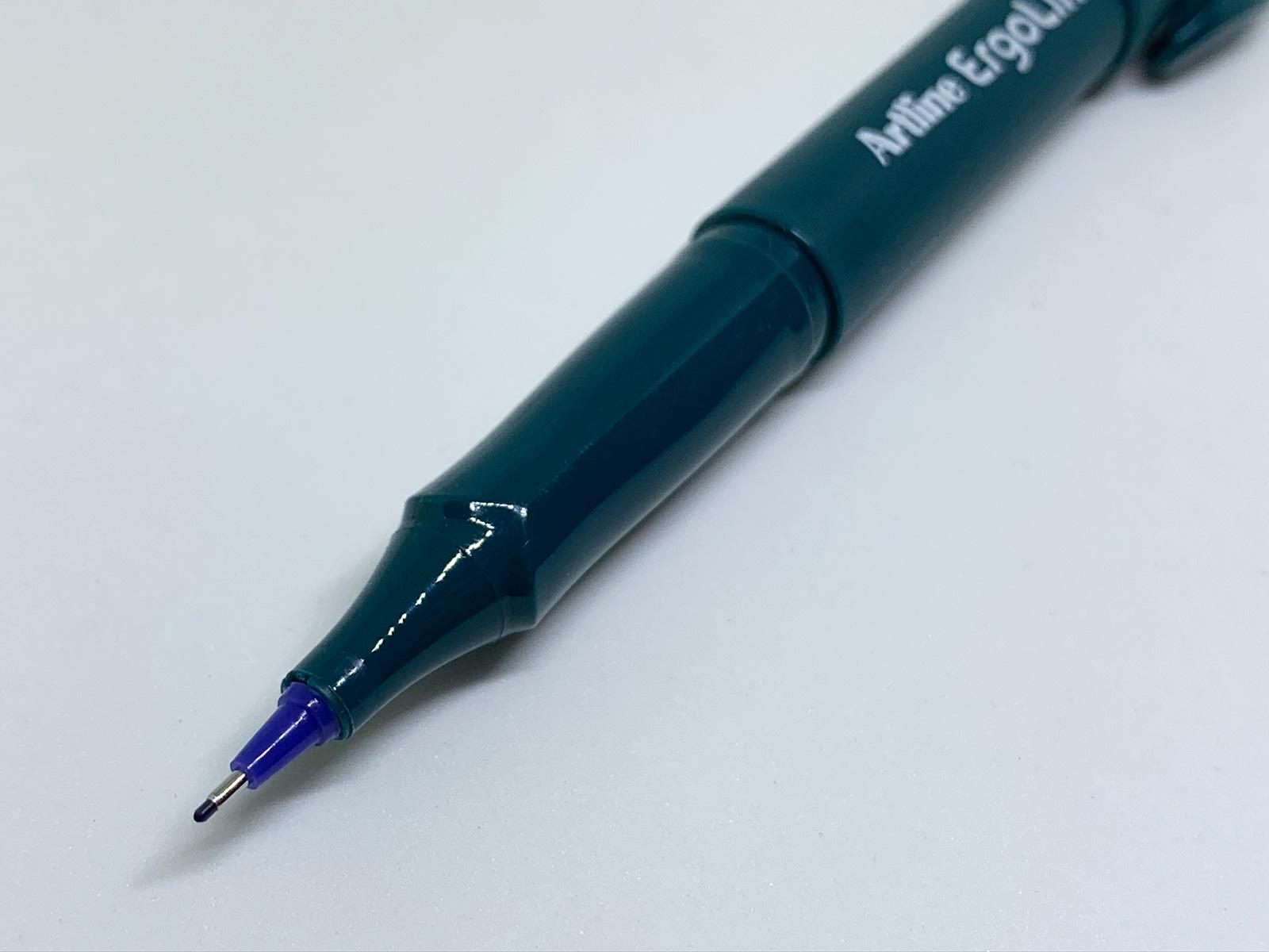 シャチハタ エルゴライン 水性サインペン 0.4mm ペン先