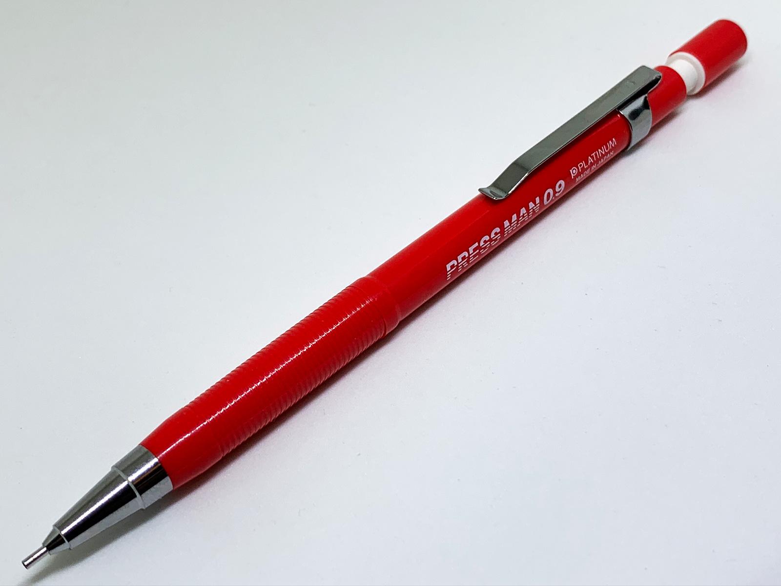 プラチナ万年筆 プレスマン 赤 0.9mm