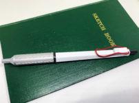 測量野帳とジェットストリームエッジ・ホワイトレッド