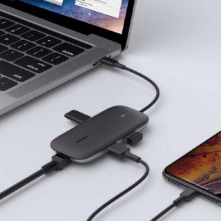 AUKEYの有線LANポート付き4in1 USB Type C ハブ「CB-C74」