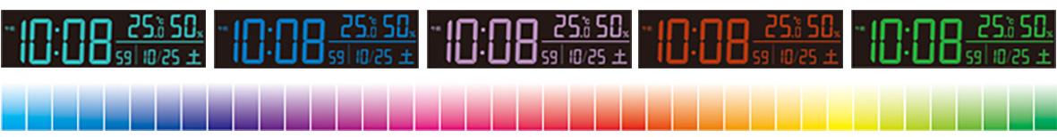 美しい表示色を70色から選択可能