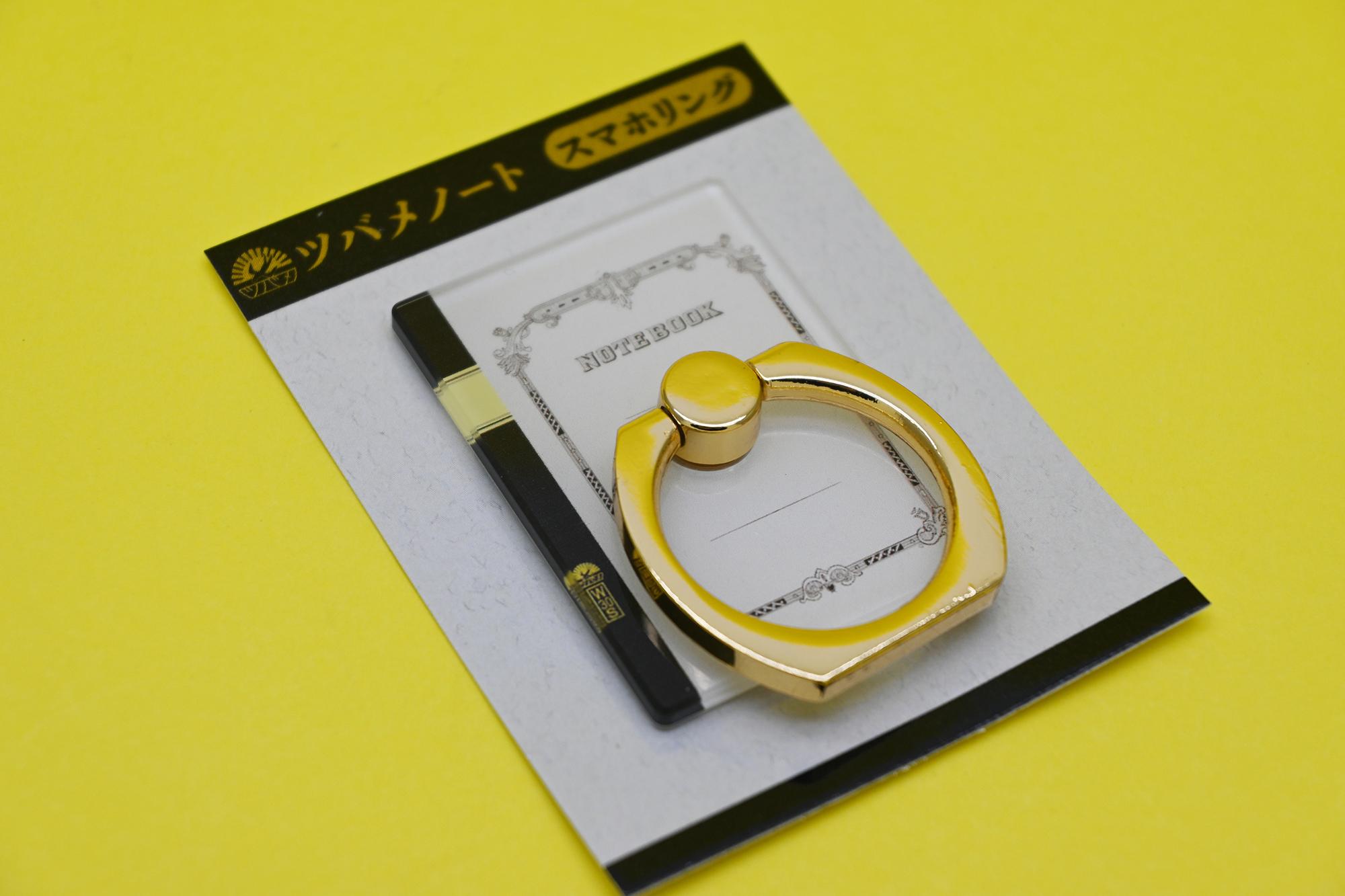 アクリルスマホリング(価格:税抜600円・素材:アクリル、真鍮)