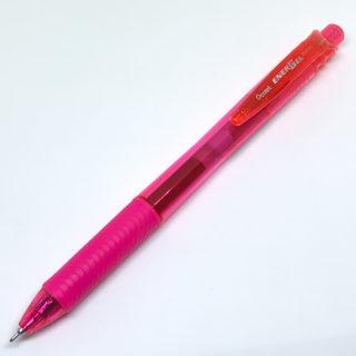 「ぺんてる エナージェル・エックス」0.5mm ピンク